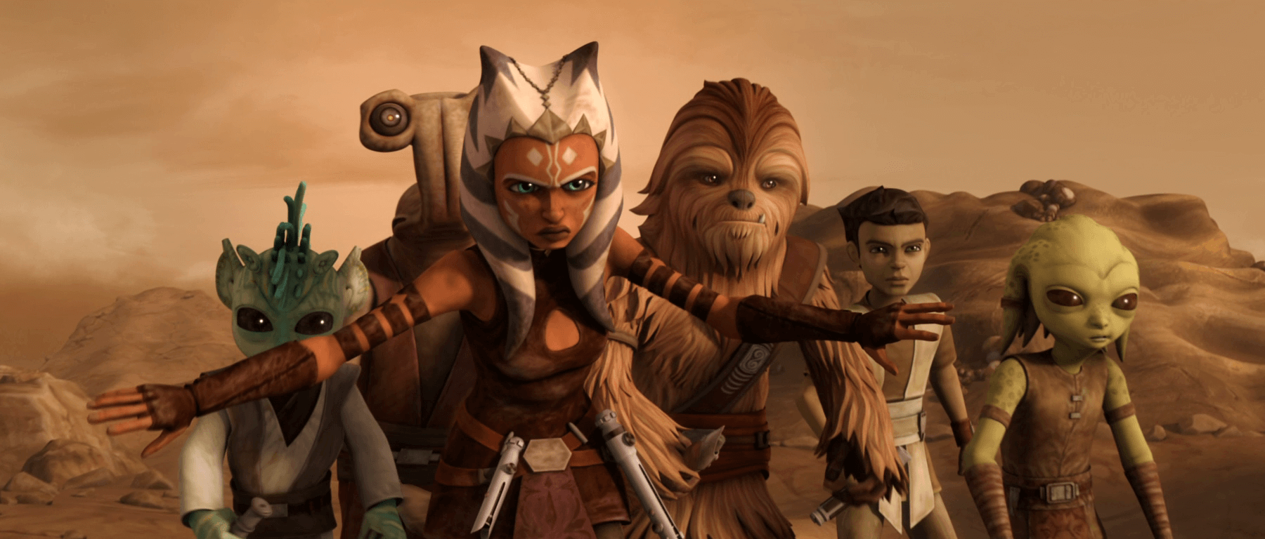 ahsoka-tano-about-to-fight-grievous, Star Wars the Clone Wars, guerra dos clones, série estar wars, cgi star wars, lucasarts, disney