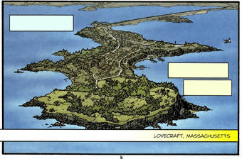 Mapa Lovecraft - Massachusetts - Locke & Key